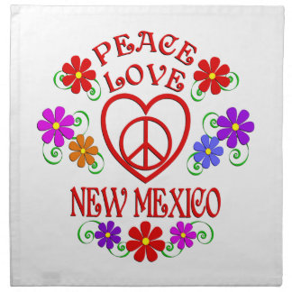 Amour Nouveau Mexique de paix Serviettes En Tissus