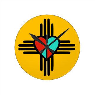 Amour, Nouveau Mexique, paix Horloge Ronde