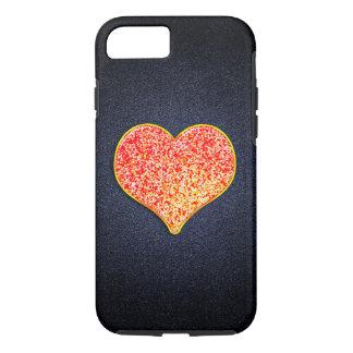 AMOUR - or rose brillant - iPhone 7, dur Coque iPhone 7