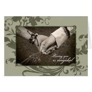 Amour païen carte de vœux