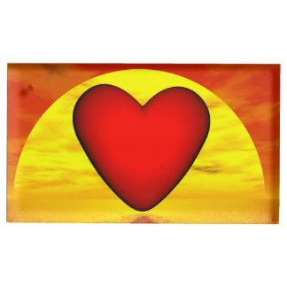 Amour par coucher du soleil - 3D rendent Porte-photos