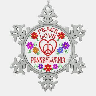 Amour Pennsylvanie de paix Ornement Flocon De Neige