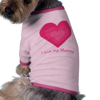 Amour personnalisable mignon d'I mes coeurs de ros T-shirt Pour Chien