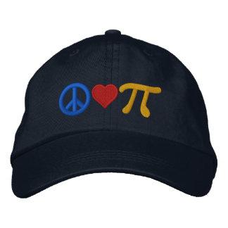 Amour pi de paix casquette brodée