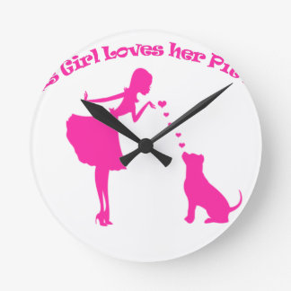 amour pitty horloge ronde