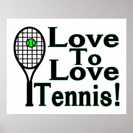Amour pour aimer le tennis affiche
