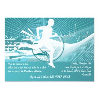 Amour pour courir l'invitation carton d'invitation  12,7 cm x 17,78 cm