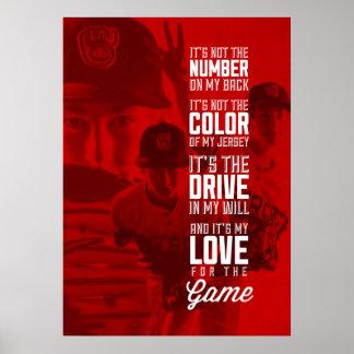 Amour pour l'affiche de jeu avec votre image poster