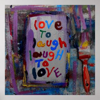 amour pour rire le rire pour aimer poster