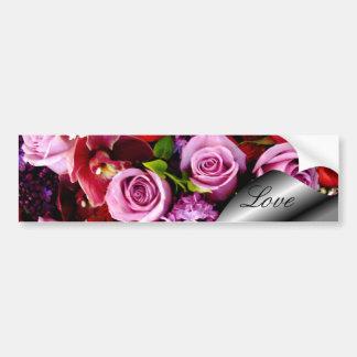 Amour, pour toujours votre roses_ adhésifs pour voiture