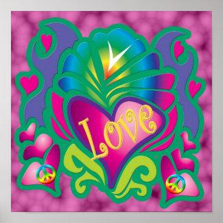 Amour psychédélique poster