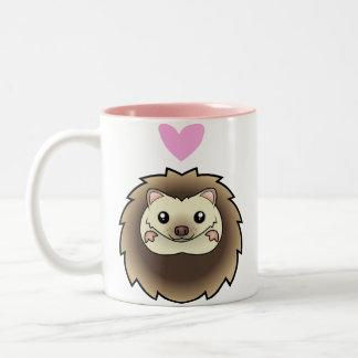 Amour pygméen de hérisson mug bicolore