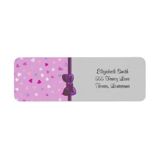 Amour, Romance, coeurs - blanc rose pourpre bleu Étiquette D'adresse Retour