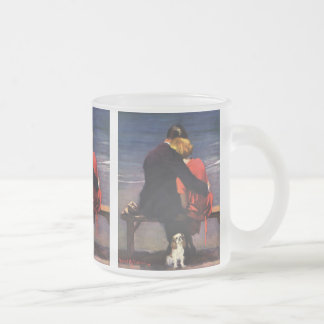 Amour romantique vintage, Romance sur la plage Mug En Verre Givré