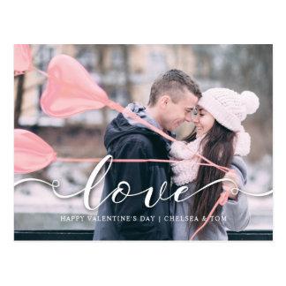 Amour rose de la carte postale | de photo de