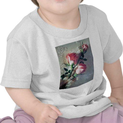 Amour rose de mariage de dentelle de roses t-shirt