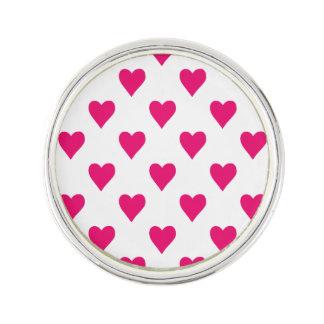 Amour rose mignon de motif de coeur pin's