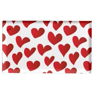 Amour rouge de coeur peint par motif porte-photo