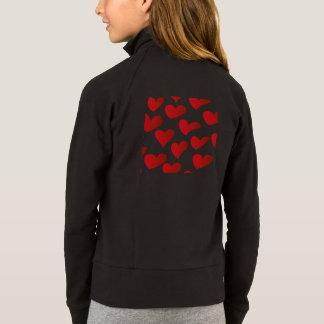 Amour rouge de coeur peint par motif veste