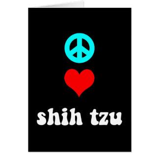 Amour Shih Tzu de paix Cartes