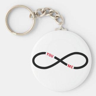 amour, signe d'infini vous et moi interminables porte-clefs