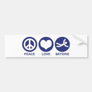 Amour Skydive de paix Autocollant Pour Voiture