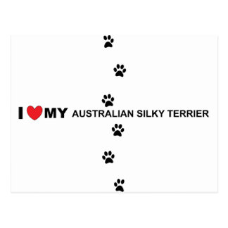 amour soyeux australien carte postale