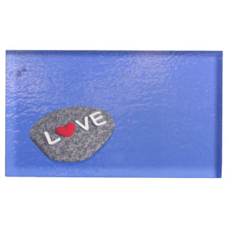 Amour sur la pierre - 3D rendent Porte-cartes De Table