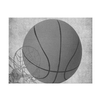 Amour The Game de boule de panier en noir et blanc Toiles
