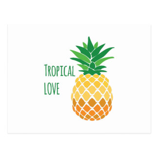 Amour tropical carte postale
