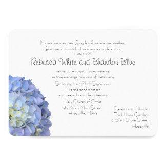 Amour un un autre mariage chrétien d'écriture carton d'invitation  12,7 cm x 17,78 cm