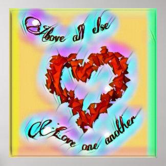 Amour une une autre affiche lumineuse poster
