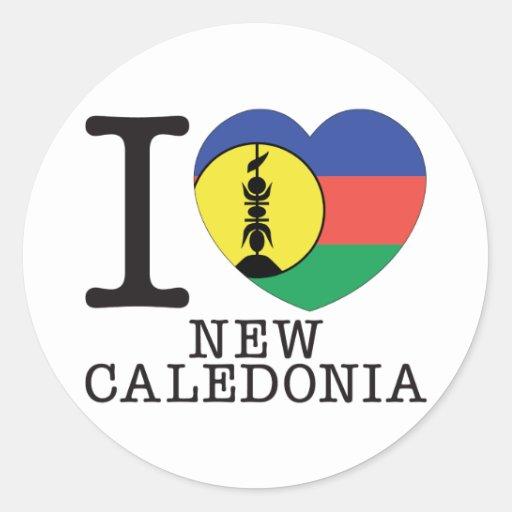 Amour v2 de la Nouvelle-Calédonie Adhésif Rond