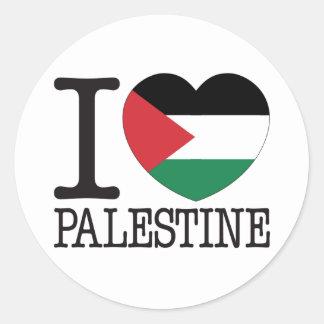 Amour v2 de la Palestine Sticker Rond