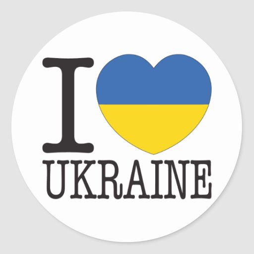 Amour v2 de l'Ukraine Adhésifs Ronds