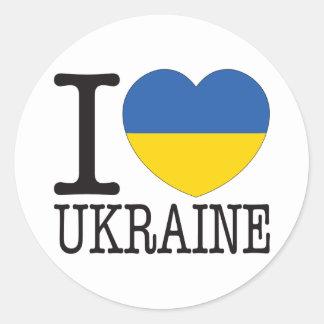 Amour v2 de l'Ukraine Sticker Rond