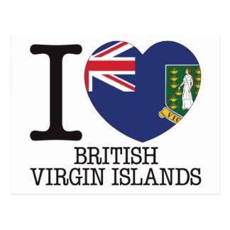 Amour v2 des Îles Vierges britanniques Carte Postale