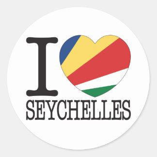 Amour v2 des Seychelles Sticker Rond