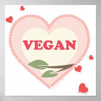 Amour végétalien affiches
