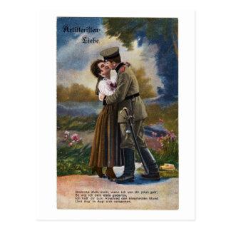 Amour vintage d'Artillerie Liebe de carte postale