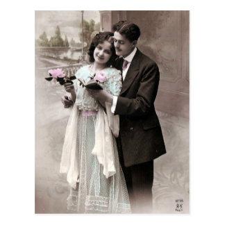 Amour vintage de couples cartes postales