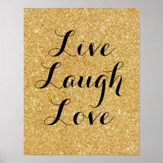 Amour vivant de rire, affiche d'art de parties poster