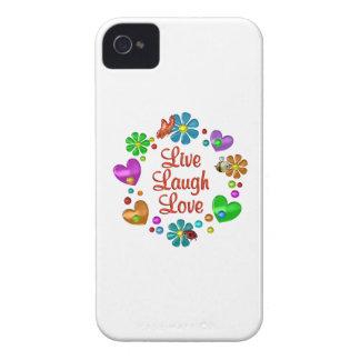 Amour vivant de rire d'amusement coque Case-Mate iPhone 4