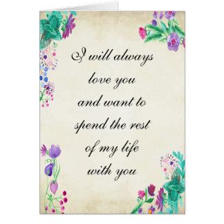 Amour vrai carte de vœux