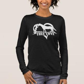 Amour vrai (cheval) t-shirt à manches longues