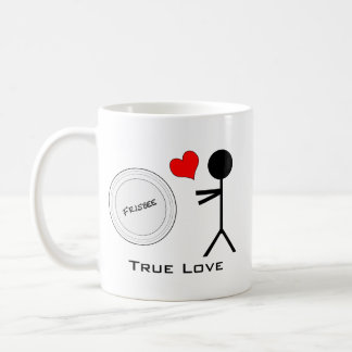 Amour vrai de frisbee final mug