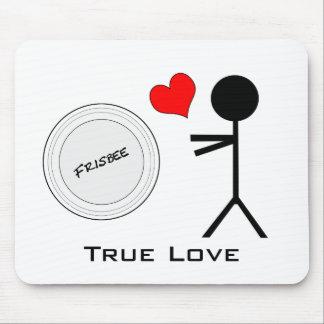 Amour vrai de frisbee final tapis de souris