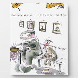 amour Yorkshire empruntant des dents de whippets Plaque Photo