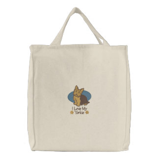Amour Yorkshire Terrier Sac Brodé