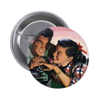 Amoureux de lycée vintages, anneau de promesse badges